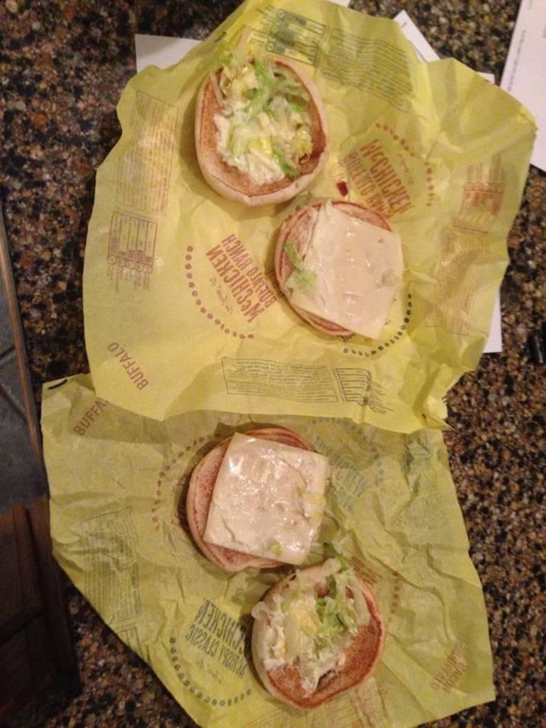 Чикенбургер без курицы