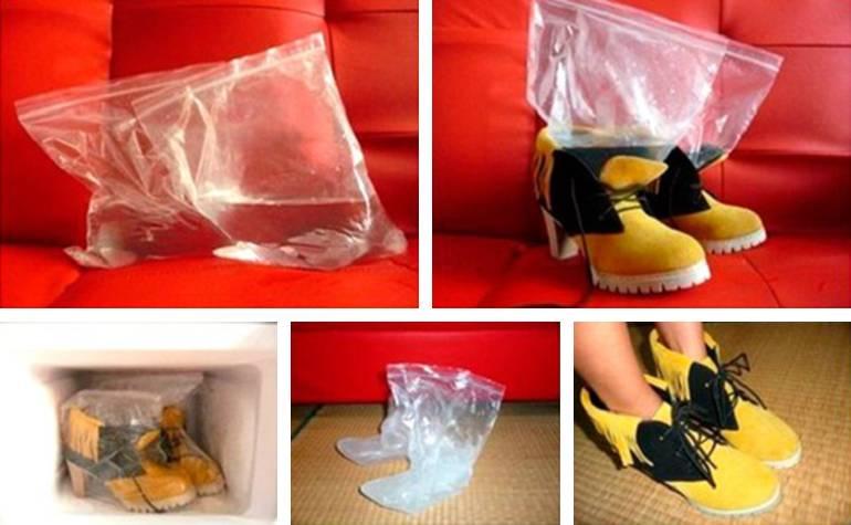 Как сделать чтобы туфли не жали 56