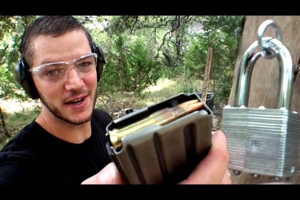 Каким оружием можно прострелить замок