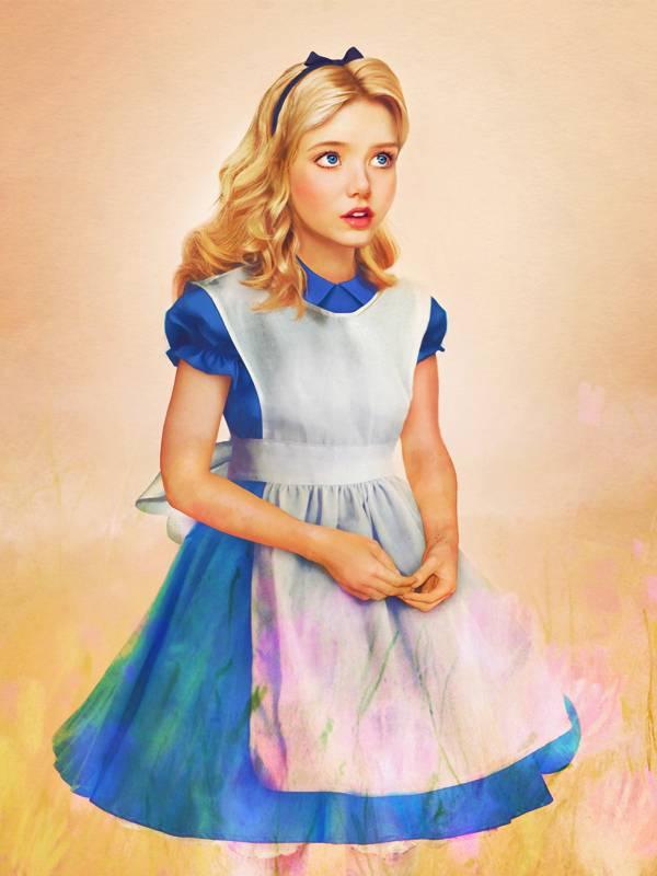 Алиса из мультфильма «Алиса в Стране чудес»