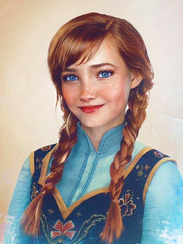 Королева Анна из мультфильма «Холодное сердце»