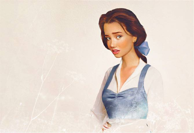Бель из мультфильма «Красавица и Чудовище»