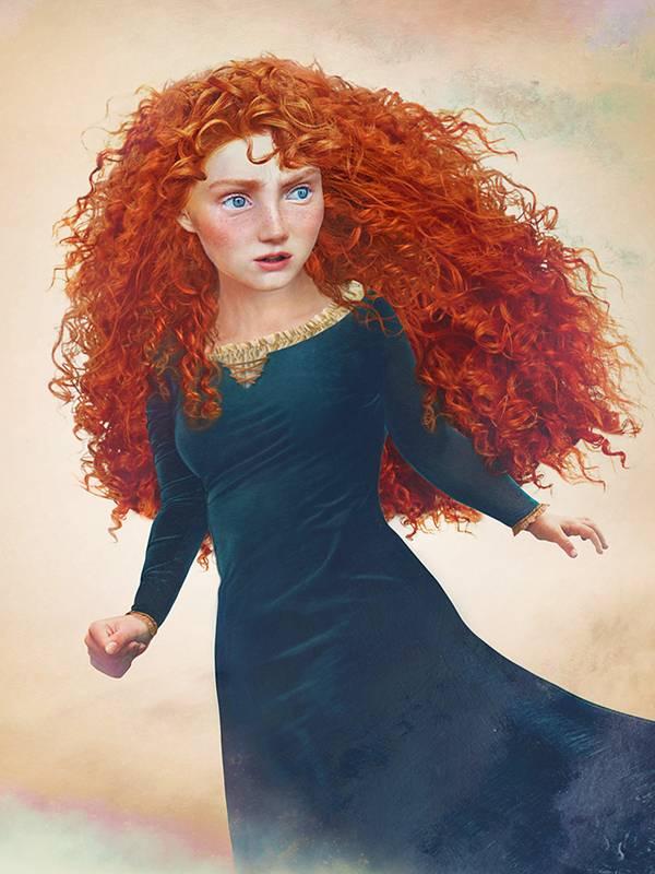 Мерида из мультфильма «Храбрая сердцем»