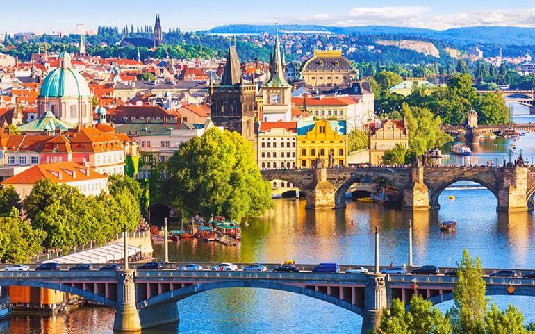 Городской пейзаж Чехии
