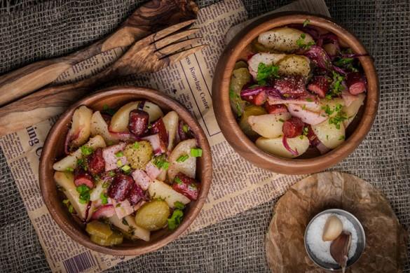 «Хижина лесника». Картофельный салат в немецком стиле.