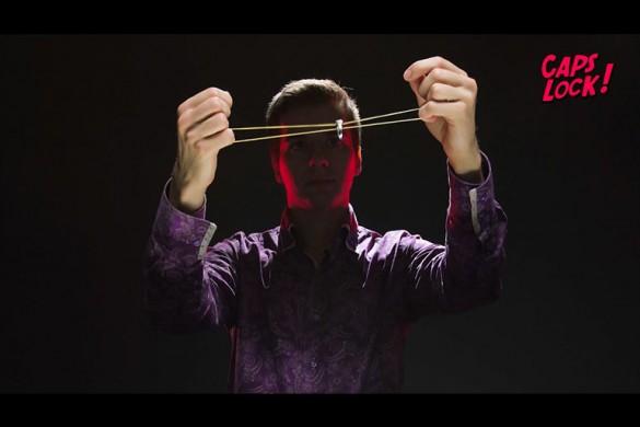 Учимся делать фокусы: трюки с кольцом и резинкой