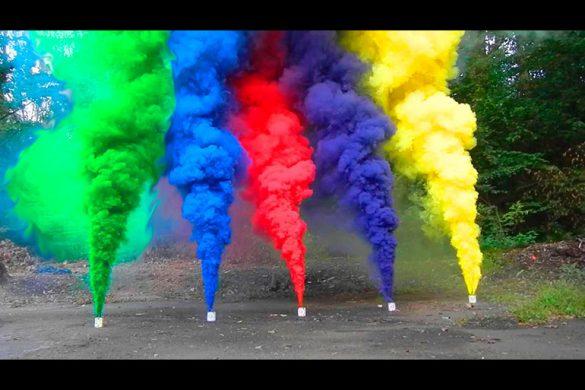 Как сделать цветную дымовую шашку